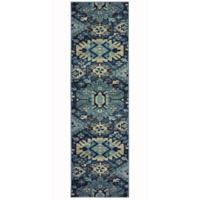 Oriental Weavers Linden Tribal 2-Foot 3-Inch x 7-Foot 6-Inch Runner in Navy