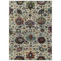 Oriental Weavers Andorra Floral 8'6 x 11'7 Area Rug in Stone