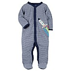 carter's® Size 3M Snap-Up Rocket Sleep & Play in Navy Stripe