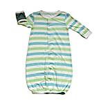 Silkberry Baby™ Stripe Convertible Gown in Blue/Green