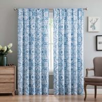 Truly Soft Marcello 84-Inch Rod Pocket Window Curtain Panel Pair in Blue
