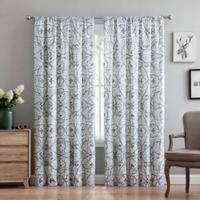 Truly Soft Marcello 84-Inch Rod Pocket Window Curtain Panel Pair in Grey