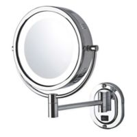 Jerdon 5X-1X LED Wall Mount Mirror