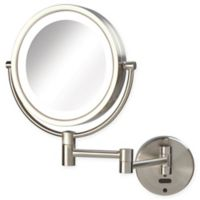 Sharper Image® 8X-1X LED Wall Mount Motion Sensor Mirror in Nickel