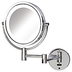 Sharper Image 174 8x 1x Led Wall Mount Motion Sensor Mirror