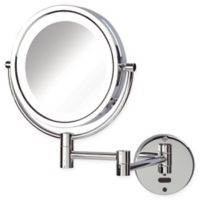 Sharper Image® 8X-1X LED Wall Mount Motion Sensor Mirror in Chrome