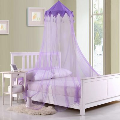 Marvelous Casablanca Kids Harlequin Bed Canopy In Purple