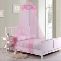 Casablanca Kids Buttons & Bows Bed Canopy in Pink