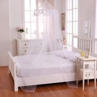 Casablanca Kids Buttons & Bows Bed Canopy in White