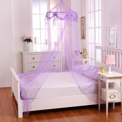 Casablanca Kids Buttons U0026 Bows Bed Canopy In Purple