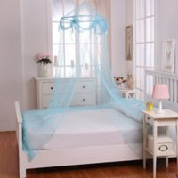 Casablanca Kids Buttons & Bows Bed Canopy in Blue