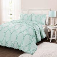 Lush Décor Avon 3-Piece Full/Queen Comforter Set in Light Aqua