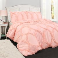 Lush Décor Avon 3-Piece Full/Queen Comforter Set in Light Pink