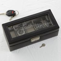 Inspiring Messages Leather 5-Slot Watch Box