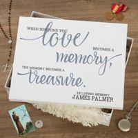 Memory Becomes A Treasure Keepsake Memory Box