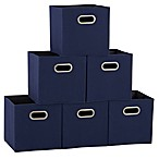 Household Essentials® Collapsible Fabric Storage Bins in Blue (Set of 6)