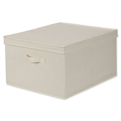 Superior Household Essentials® Jumbo Canvas Storage Box In Natural