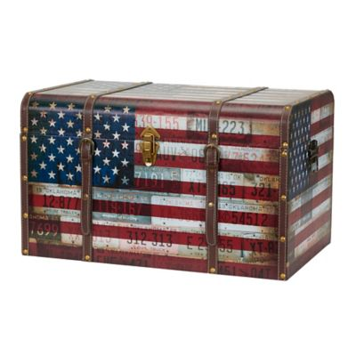 Household Essentials® Americana Decorative Home Storage Trunk  sc 1 st  Bed Bath u0026 Beyond & Buy Storage Trunks from Bed Bath u0026 Beyond