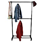 Mind Reader 2-Tier Double Rod Garment Rack in Silver