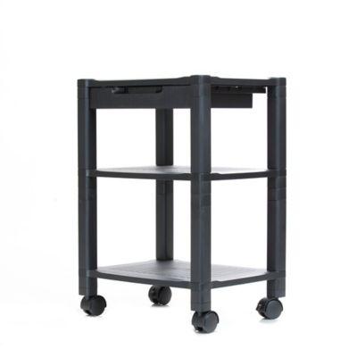 office rolling cart. Mind Reader 3-Shelf Mobile Printer Cart In Black Office Rolling Cart