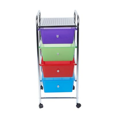 Studio 3b Trade 3 Drawer Adjule Top Storage Cart