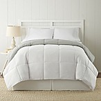 Pacific Coast® Textiles Down Alternative Reversible Queen Comforter in White/Grey