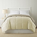 Pacific Coast® Textiles Down Alternative Reversible King Comforter in Ivory/Beige