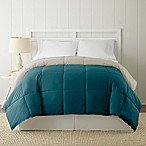 Pacific Coast® Textiles Down Alternative Reversible Queen Comforter in Blue Coral/Tan
