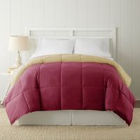Pacific Coast® Textiles Down Alternative Reversible King Comforter in Red/Beige