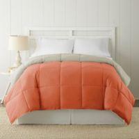 Pacific Coast® Textiles Down Alternative Reversible Twin Comforter in Orange/Tan