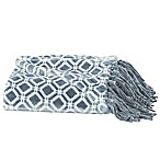 Great Bay Home Liliana Fringed Ultra Plush Throw Blanket in Smoke Blue