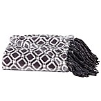 Great Bay Home Liliana Fringed Ultra Plush Throw Blanket in Steel Grey