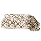 Great Bay Home Liliana Fringed Ultra Plush Throw Blanket in Taupe