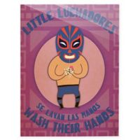 "Astra Art ""Little Luchadores Wash"" 11-Inch x 14-Inch Acrylic Wall Art"