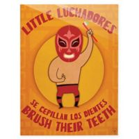 "Astra Art ""Little Luchadores Brush"" 11-Inch x 14-Inch Acrylic Wall Art"
