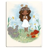 "Astra Art ""Girl with Squirrels"" 11-Inch x 14-Inch Acrylic Wall Art"