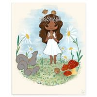 "Astra Art ""Girl with Squirrels"" 16-Inch x 20-Inch Metal Wall Art"