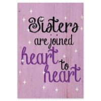 """Astra Art """"Heart to Heart"""" 20-Inch x 24-Inch Canvas Wall Art"""