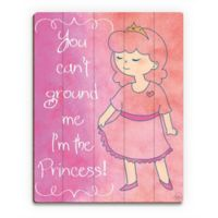 "Astra Art ""I'm the Princess"" 11-Inch x 14-Inch Wood Wall Art"