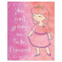 "Astra Art ""I'm the Princess"" 20-Inch x 24-Inch Canvas Wall Art"