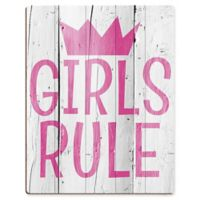 "Astra Art ""Girls Rule"" 11-Inch x 14-Inch Acrylic Wall Art"