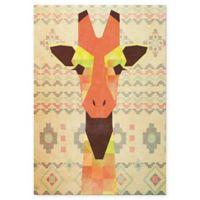 Astra Art Geometric Giraffe 11 Inch X 14 Metal