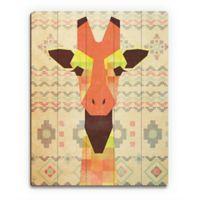 "Astra Art ""Geometric Giraffe"" 11-Inch x 14-Inch Wood Wall Art"