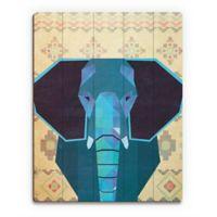 "Astra Art ""Geometric Elephant"" 11-Inch x 14-Inch Wood Wall Art"