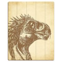 """Astra Art """"Beipiaosaurus"""" 11-Inch x 14-Inch Wood Wall Art"""