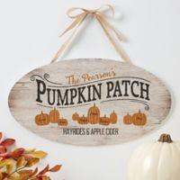 Pumpkin Patch Oval Wood Sign