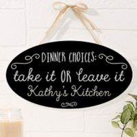Kitchen Quotes Oval Wood Sign