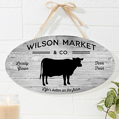 image of Farmhouse Kitchen Oval Wood Sign
