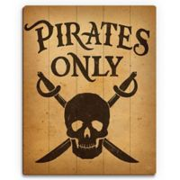 Astra Art Pirates Only 14-Inch x 11-Inch Wood Wall Art