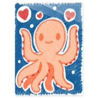 Astra Art Cute Crayon Octopus 14-Inch x 11-Inch Acrylic Wall Art